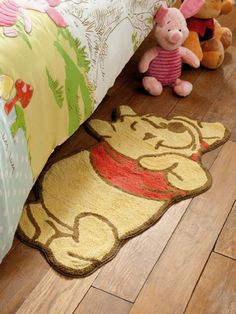 Winnie The Pooh Shaped Bedroom Rug
