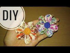 DIY || Cara membuat bros bunga dari kain perca katun / batik 2 || Easy Tutorial Fabric Flower - YouTube