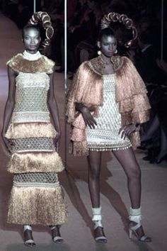 Saint Laurent Spring 2002 Couture Fashion Show - <strong>Africa</strong>