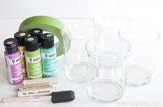 DIY Painted Glassware I Heart Nap Time   I Heart Nap Time - Easy recipes, DIY crafts, Homemaking
