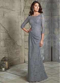 Buy discount Elegant Lace Bateau Neckline Sheath Mother of The Bride Dress with Beaded Lace Appliques at Dressilyme.com