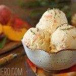Peach Honey Ice Cream With Lemon Verbena