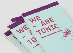 Logo and print with illustrative detail designed by Blok for Toronto based advertising agency We Are Tonic