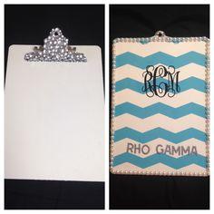 Rho Gamma Clipboard for my Big