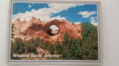 Window Rock postcard from 80s or 90s.
