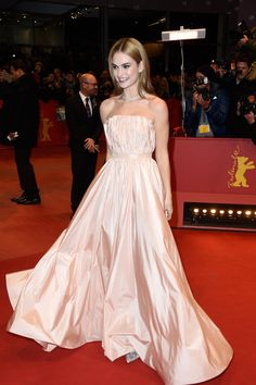 Pin for Later: Lily James Just Had Her Own Cinderella Moment in Dior She Took a Spin in Her Dior Dress