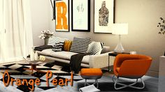 Orange Pearl Apartment by Simberry / Sims 3 / Download
