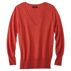 Mossimo Women's Plus-Size Long-Sleeve V-Neck Pullover Sweater - Assorted Colors. SO MANY COLORS