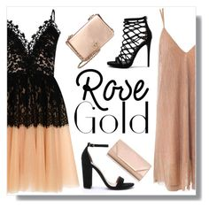 """""""Rose gold"""" by poisaddicted ❤ liked on Polyvore featuring True Decadence, Steve Madden, Sans Souci, Tory Burch and Dorothy Perkins"""