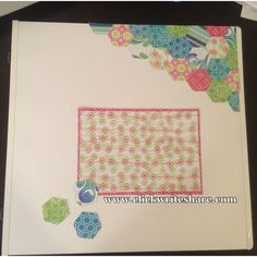 More #creativememories Hexagon Place n punch fun! #scrapbookpages #scrapbooklayout #cmtools
