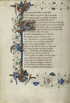 Chaucer 'Romaunt of the Rose'  England: c.1440-1450  folio 57v
