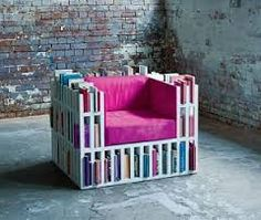 sofa + rak buku = keren
