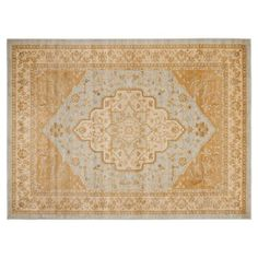 Check out this item at One Kings Lane! Behati Rug, Light Gray/Gold