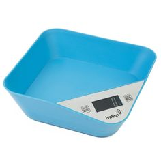 Ivation™ Super-Accurate Lightweight Kitchen Bowl w/Digital Scale - Ounce, Milliliter, Pound:Ounce, Gram Weight Units - Features 11 Pounds Capacity & One-Button Tare Setting - Turquoise Blue