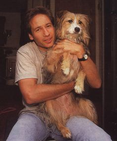 David Duchovny with Blue.