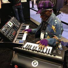 Best Keyboardist Player Bernie Worrell at NAMM Music Show 2013 in Anaheim