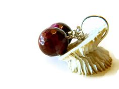 Tiger Eye Earrings Red Ruby Jewelry Sterling Silver by MsBsDesigns, $30.00