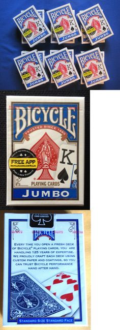 Playing Cards 166571: Lot Of 7 New Sealed Decks Of Jumbo Bicycle Poker Playing Cards Blue Made In Usa -> BUY IT NOW ONLY: $35 on eBay!