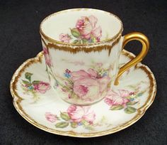 Antique Haviland Limoges Demitasse Cup & Saucer by Joann E Granger