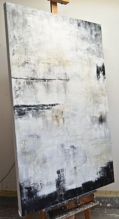 """""""The Spectator"""" Abstract Large 40 x 60 Painting Gray White – Sky Whitman Fine Art Abstract Geometric Art, Contemporary Abstract Art, Abstract Canvas Art, Contemporary Artists, Art Paintings, Best Abstract Paintings, Portrait Paintings, Acrylic Paintings, Painting Inspiration"""