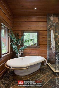 Bathroom   PrecisionCraft Log Home   Flickr - Photo Sharing!