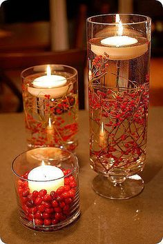 candles but would use sand/shells for beach theme
