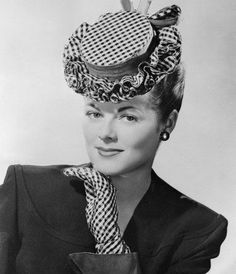 1940s tilt hat. You quite often see little ruffled decoration on the brim during the 40s.