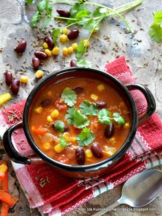 zupa-meksykanska-z-mielona-wolowina Mexican Food Recipes, Ethnic Recipes, Kitchen, Diet, Cooking, Mexican Recipes, Kitchens, Cuisine, Cucina
