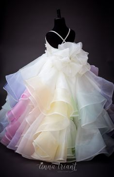 Step into the luxurious world of little girls gowns by Anna Triant Couture and experience the magic of innovative style in every perfect stitch. Frocks For Girls, Kids Frocks, Gowns For Girls, Wedding Dresses For Girls, Dresses Kids Girl, Kids Dress Wear, Kids Gown, Little Girl Gowns, Little Girl Fashion