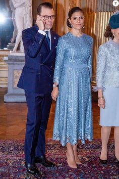 Daniel and Victoria, 13 November 2018 Princess Victoria Of Sweden, Crown Princess Victoria, Sweden Fashion, Danish Royalty, Victoria Fashion, Danish Royal Family, Swedish Royals, Crown Royal, Bridesmaid Dresses