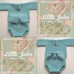 Little John-Hecho a mano: MODELO MENTA Baby Boy Knitting Patterns, Knitting For Kids, Baby Vest, Baby Cardigan, Tricot Baby, Knitted Baby Clothes, Baby Kind, Classic Outfits, Diy Shirt