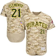7f73cbd60 Pirates  21 Roberto Clemente Camo Flexbase Authentic Collection Stitched  MLB Jersey