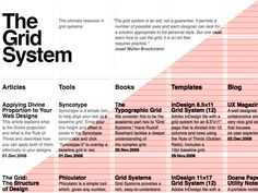 The grid system webpage.