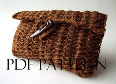 CROCHET BAG PATTERN Clutch Bag Pouch Bag by LiliaCraftParty  #knitting #knit