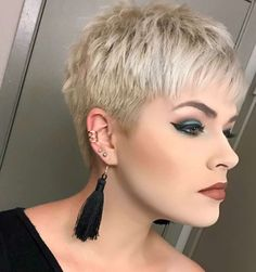 Today we have the most stylish 86 Cute Short Pixie Haircuts. We claim that you have never seen such elegant and eye-catching short hairstyles before. Pixie haircut, of course, offers a lot of options for the hair of the ladies'… Continue Reading → Short Hairstyles For Thick Hair, Short Pixie Haircuts, Short Hair Cuts, Curly Hair Styles, Haircut Short, Undercut Hairstyles, Pixie Hairstyles, Female Hairstyles, Stylish Hairstyles