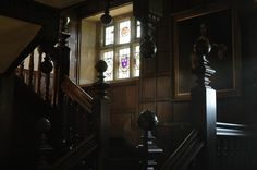 A very nice photo of Chawton House's interior staircase.