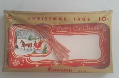 VTG DENNISON CHRISTMAS TAGS - 5 MERRY CHRISTMAS - ORIGINAL CELLOPHANE PACKAGING   eBay