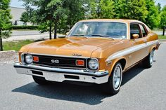 This is just like Grandmas gold nova! Chevy Ss, Chevy Nova, Chevrolet Corvette, Chevy Muscle Cars, Best Muscle Cars, American Muscle Cars, Cars Usa, Us Cars, Chevy Classic