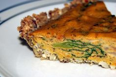 SWEET POTATO QUICHE WITH A CASHEW CRUST