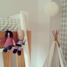 Teo Y Olivias Room Ferm Living Harlequin Wallpaper Kids