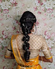 Image may contain: one or more people - All For Bridal Hair Bridal Hairstyle Indian Wedding, Bridal Hair Buns, Bridal Hairdo, Indian Bridal Hairstyles, Saree Hairstyles, Bride Hairstyles, Chic Hairstyles, Beautiful Hairstyles, Hairdos