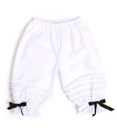 Take a look at this White Signature Bloomer Shorts - Infant, Toddler & Girls by Servane Barrau Designs on #zulily today!