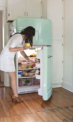 Big Chill fridge in Jadite Green