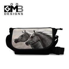 Stylish Horse messenger book bags Coolest Designer Canvas Side bag for Boys satchel bags for men Cross Body Bag for College girl #Happy4Sales #bag #handbags #YLEY #kids #bagshop #shoulderbags #backpack #L09582 #highschool #fashion