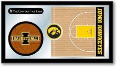 Iowa Hawkeyes Basketball Team Sports Mirror at SportsFansPlus.com. Visit website for details!