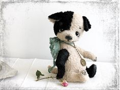 PATTERN Download to create Teddy Sweet Puppy Black Ear 8 inch by zverrriki on Etsy https://www.etsy.com/listing/155114917/pattern-download-to-create-teddy-sweet