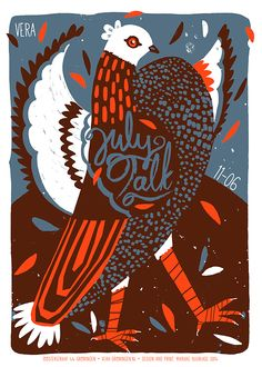 One year of screen printed gigposters on Behance