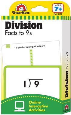 Learning Line: Division Facts to 9s, Grades 2+ (Ages 7+) - Flashcards: Evan-Moor.com