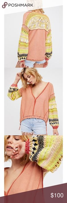 Free People Reminiscent pullover top Free People Reminiscent pullover top size small FIRM On Price Free People Tops Sweatshirts & Hoodies