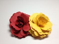 My first attempt at paper roses!
